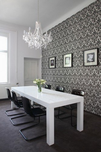 Blog l 39 espace for B q dining room wallpaper
